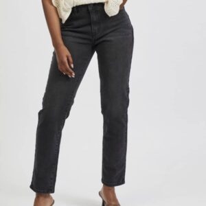 Vila Washed Black Denim Ladies Jeans Regular waist