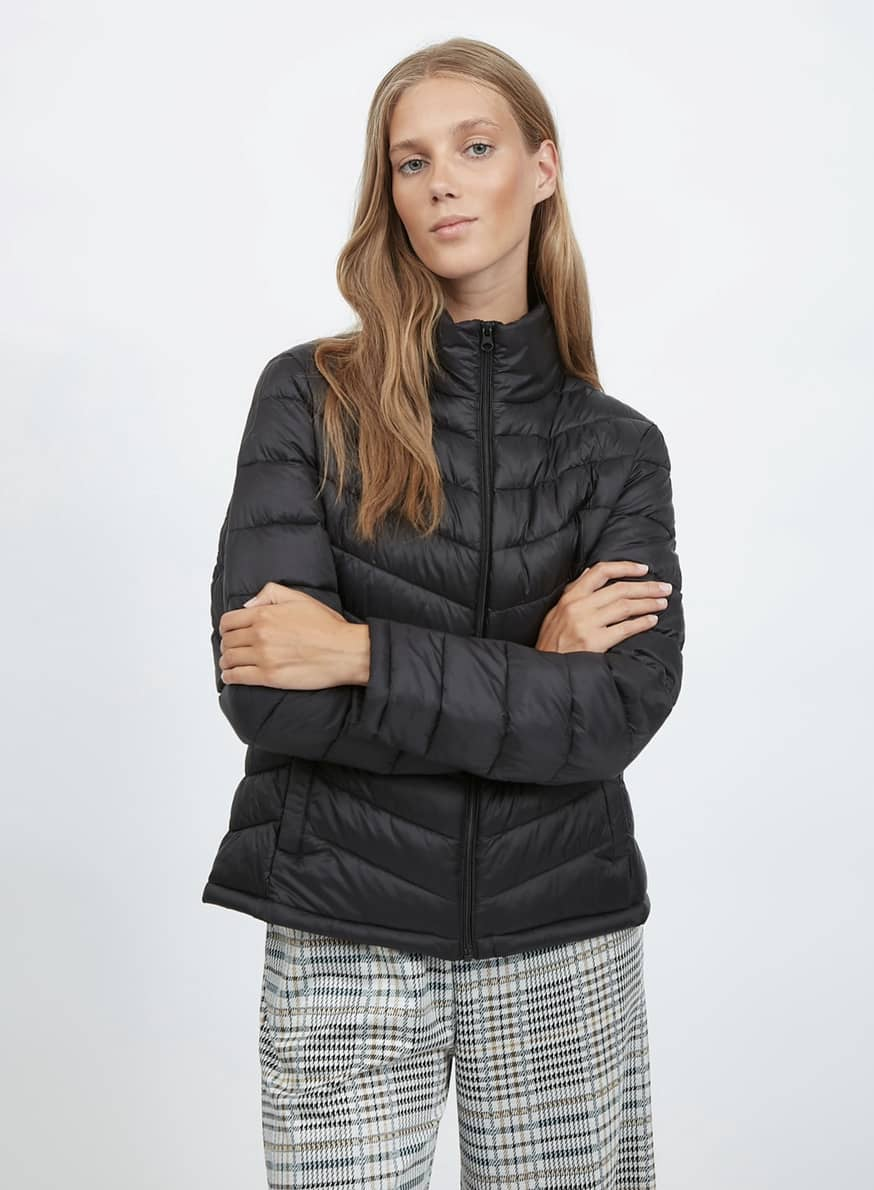 Back to School comes puff short jacket