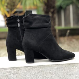 Marco Tozzi Ladies Black Ruched Boots