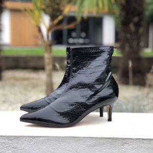Ladies Marco Tozzi Lizard Black Boots