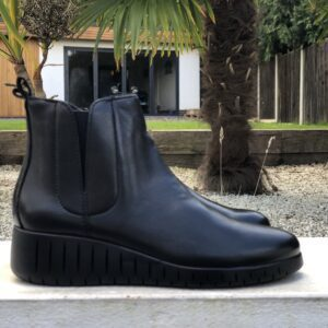 Marco Tozzi Ladies Black Leather Short Boot