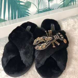 Laines Gold and Black Lobster Slipper